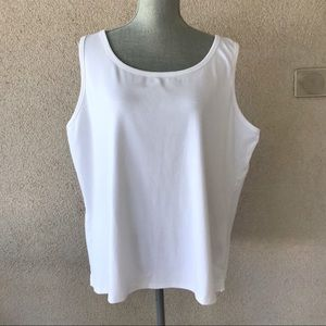 Talbots White Stretch Weekend Tank Top 3X